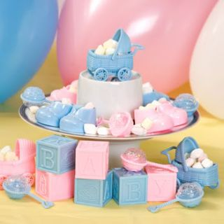 Blue or Pink Baby Shower Favor Embellishment Decoration