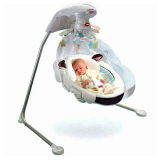 Fisher Price My Little Lamb Baby Cradle Swing w Music P0098