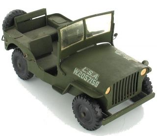 RARE Vintage Army Jeep 1940 1950 Balsa Wood Kit Model Toy