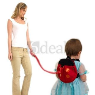 Ladybug Baby Toddler Safety Harness Backpack Strap Rein