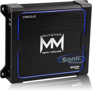 Autotek M1600.2 1600W Mean Machine 2 Channel Car Audio Amplifier/Amp