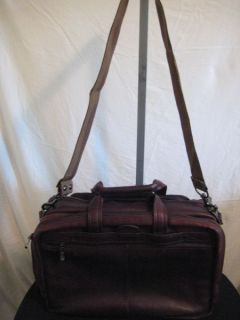 Avenues America Large Brown Leather Briefcase Attache Laptop Shoulder