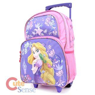 Rapunzel 16 Large School Roller Backpack Rolling Bag w/Pet