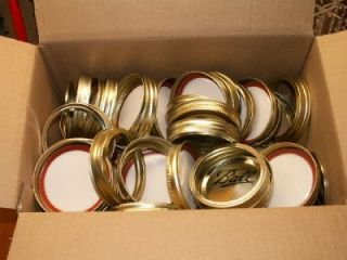 48 ball canning mason jar lids and bands wide mouth http www auctiva