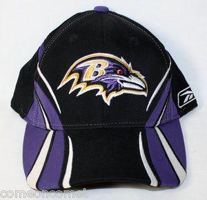 BALTIMORE RAVENS HAT Official NFL Football Baseball Style Cap
