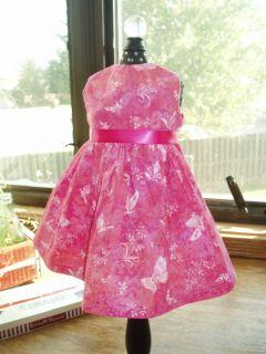 Butterfly Print Azalea Dress fits 18 American Girl Doll Clothes