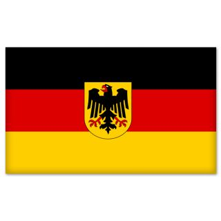Germany German Flag Car Bumper Sticker Decal 6 x 4
