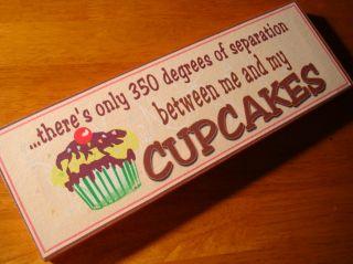 New Whimsical Cupcake Bakery Cafe Coffee Shop Kitchen Cake Baker Decor