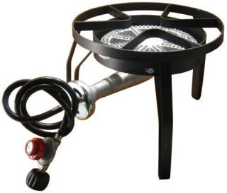 Outdoor Camping Propane Gas Banjo Burner BBQ Stove Cooker w/ Stand