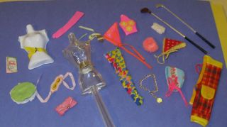 VINTAGE BARBIE BIG LOT ORIGINAL ACCESSORIES TO MANY MOD OUTFITS NO