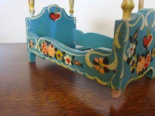 Piece Dora Kuhn Folk Art Tole Painted West Germany Dollhouse Furniture