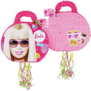 Barbie 19 Pull String Pinata Birthday Party Game Decor