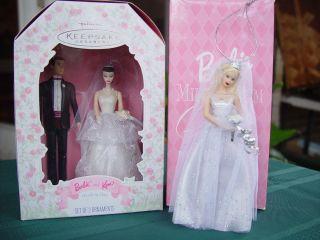 HALLMARK Ornaments Barbie Ken Wedding Day Millennium Bride Porcelain