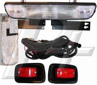 EZGO Golf Cart Headlight Bar and Tail Light Kit with Hardware