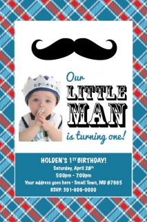 MUSTACHE Printable 1st Birthday Party Baby Shower Invitation U PRINT
