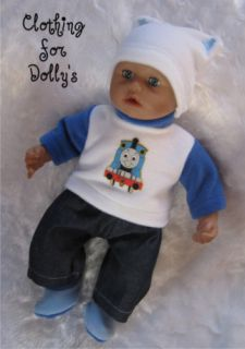 Baby Boy Dolls Clothes Outfit Fit Annabell Born 14 19