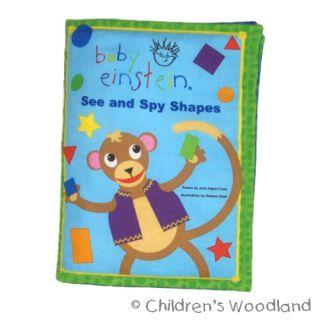 Learn Shapes Cloth Soft Book Kid Baby Einstein Animals