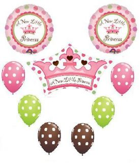 Its A Girl Princess Polka Dot Baby Shower Balloons Set
