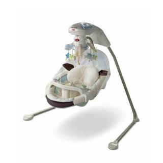 Price Little Lamb Papasan Cradle Swing w Mobile Baby Gear P0098 Rocker