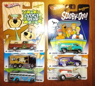 2012 Hot Wheels Nostalgia HANNA BARBERA Set Of All 6 Six Cars Scooby