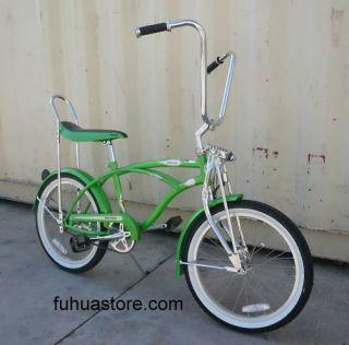 20 Lowrider Beach Cruiser Bicycle Bike Banana Seat Hero Green