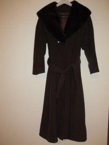 Maximilian Alta Moda at  Brown Cashmere Coat Chinchilla
