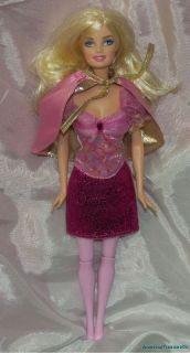 RARE 2009 Barbie and The Three Musketeers Corinne Pink Doll w Glittery