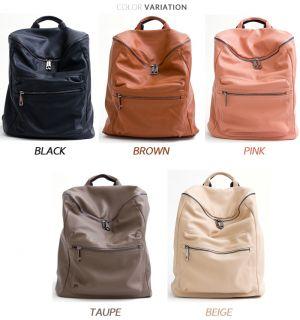 Women Faux Leather Backpacks School Laptop Vintage Casual Cute Ladies