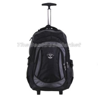 New 18 Rolling Backpack Wheeled College Travel Carryon Drop Handle