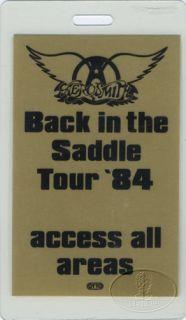 Aerosmith 1984 Back Saddle Laminated Backstage Pass GLD