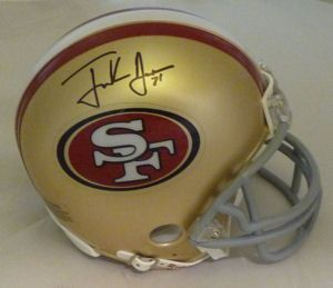 Frank Gore Autographed Signed San Francisco 49ers Riddell Mini Helmet