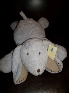 PBK Pottery Barn Kids plush stuffed blue CHAMOIS boy puppy dog lovey