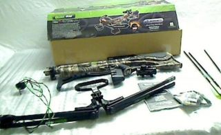 Barnett Quad 400 Crossbow Package Quiver 3 22 inch Arrows and Red Dot