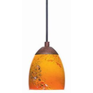 Pendant Light   Hampton Bay 392671 Rhodes 1 Light Nutmeg Mini Pendant