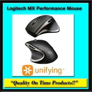 New Logitech MX Performance Mouse Wireless PC Mac Laser USB Black