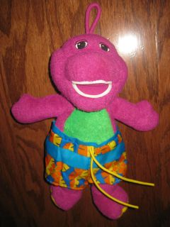 Barney The Dinosaur Plush Bath Doll Toy Learning RARE Bathtime Tub
