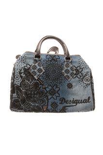 Norway Tejano Handbag Tote Bag Blue Denim 17X5010 Dream Floral
