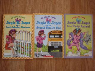 Lot of 3 Junie B Jones Books by Barbara Park Paperback
