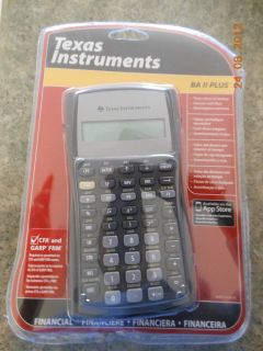 Texas Instruments BA II Plus Pro Calculator Required for CFA and GARP