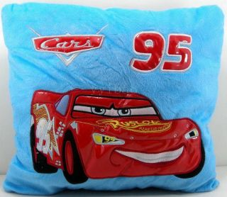Pixar Cars Lightning McQueen Plush Backrest Pillow Cushion