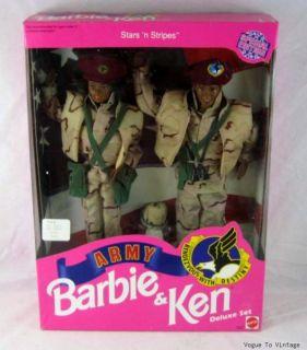 Army Black AA Barbie Ken Stars N Stripes Gift Set New