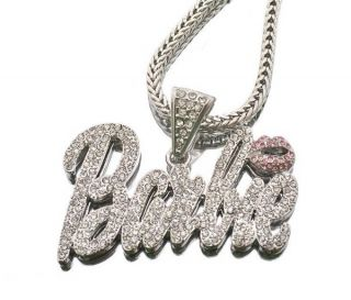 Nicki Minaj Barbie Pendant Necklace Chain Silver Gold