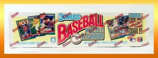 Donruss 1991 Baseball Puzzle Cards Exclusive Hobby Dealer Set New