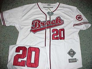 Hall of Famer Lou Brock MLBPA Throwback Baseball Jersey