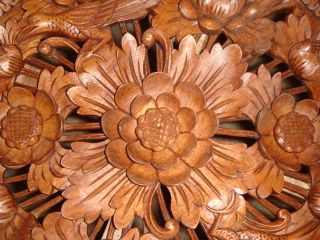 20 Bali Hand Carved Wooden Collectible End Table Art