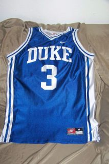vtg Duke University basketball jersey shirt adult sz Medium Trajon
