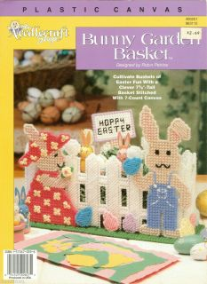 Bunny Garden Easter Basket Plastic Canvas Pattern Color Charts