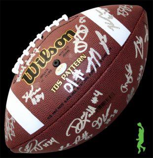 CARDINAL TEAM SIGNED AUTO WILSON FOOTBALL BALL BARRY SANDERS COA
