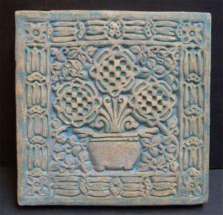 Batchelder Antique Tile Pot of Flowers