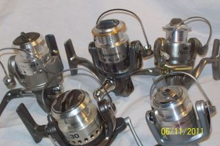 Open face spinning reels Browning, Quantum, Daiwa, Mitchell